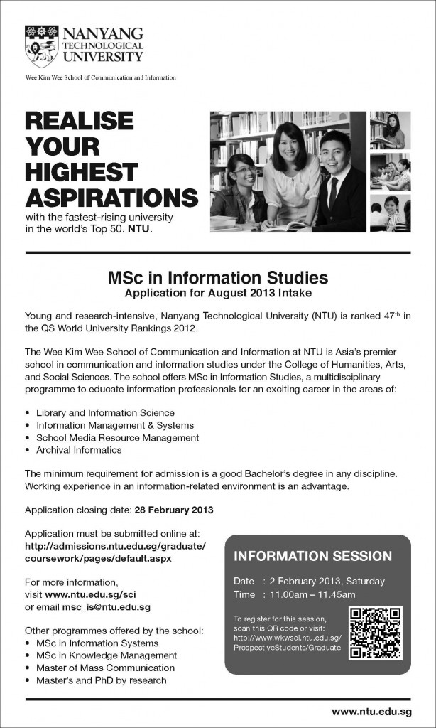 ntu master coursework Note: if applying for non-english courses, applicants must provide the score of hsk 6 nanyang technological university graduation requirements phd confirmation exercise.